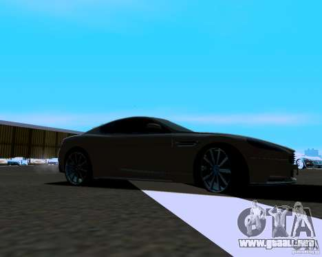 Aston Martin DBS para GTA San Andreas left