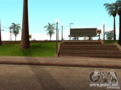 La nueva cancha de baloncesto en Los Santos para GTA San Andreas quinta pantalla