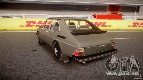 SAAB 99 Turbo 1978 para GTA 4 Vista posterior izquierda
