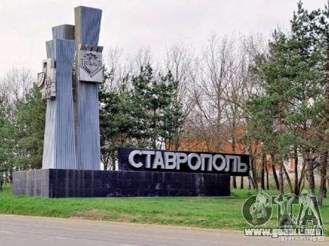 Pantalla de arranque de la ciudad de Stavropol para GTA San Andreas