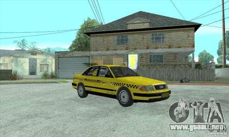 Audi 100 C4 (Taxi) para GTA San Andreas left