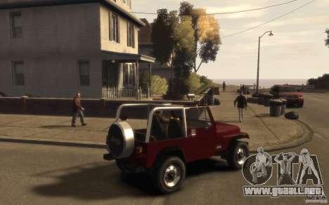 Jeep Wrangler 1986 para GTA 4 visión correcta