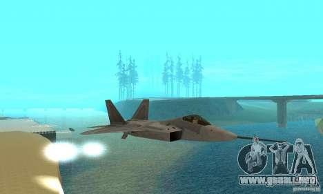 YF-22 Grey para visión interna GTA San Andreas