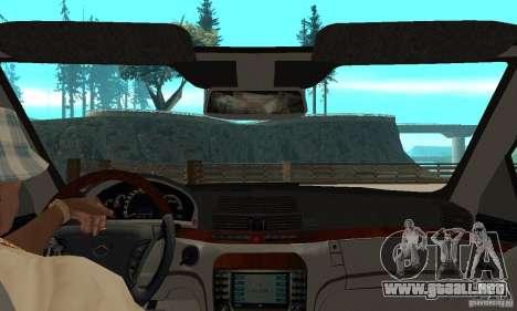 Mercedes Benz AMG S65 DUB para la visión correcta GTA San Andreas