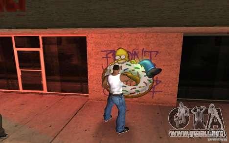Homer Graffiti Mod para GTA San Andreas segunda pantalla