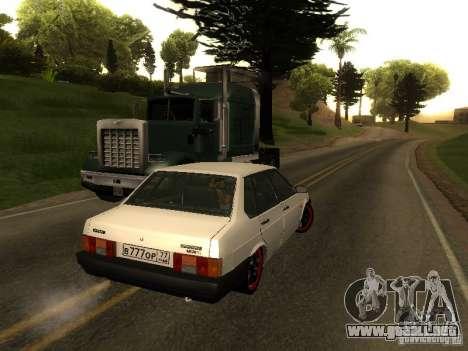 VAZ 21099 v. 2 para GTA San Andreas vista posterior izquierda