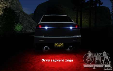 Mitsubishi Lancer Evolution X Tunable para GTA San Andreas