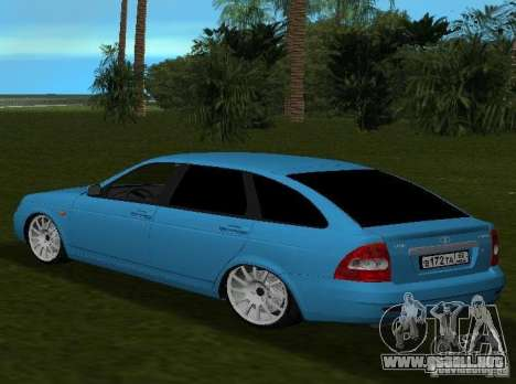 Lada Priora Hatchback v2.0 para GTA Vice City vista lateral izquierdo