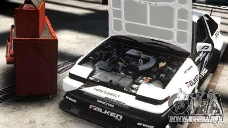 Toyota Corolla GT-S AE86 EPM para GTA 4 Vista posterior izquierda