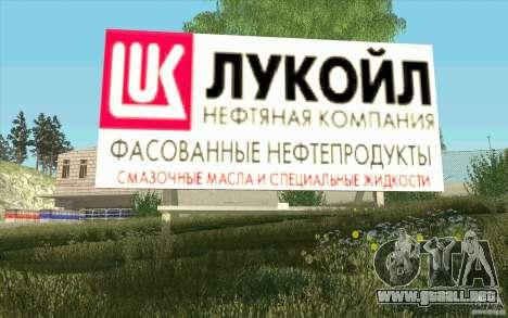 Petrolera Lukoil para GTA San Andreas quinta pantalla