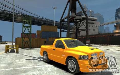 Dodge Ram SRT-10 v.1.0 para GTA 4 vista hacia atrás