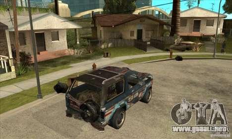 Blaster XL from FlatOut2 para la visión correcta GTA San Andreas