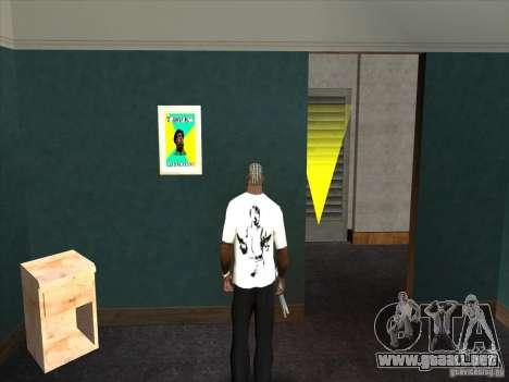 Camiseta de Chuck Norris para GTA San Andreas segunda pantalla
