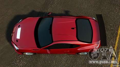 Subaru BRZ 2013 para GTA 4 visión correcta