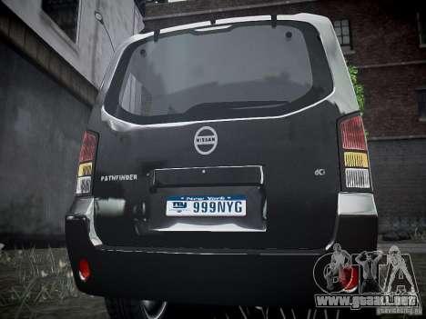 Nissan Pathfinder 2010 para GTA 4 visión correcta