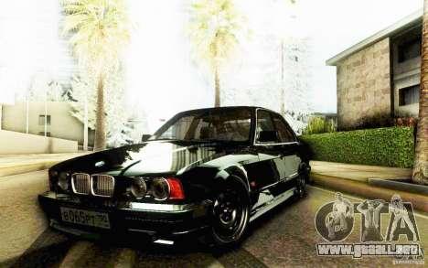 BMW 525 para GTA San Andreas vista posterior izquierda