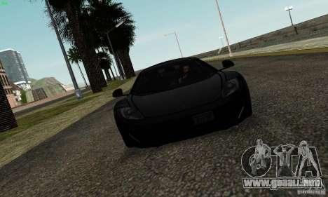 McLaren MP4-12C para visión interna GTA San Andreas