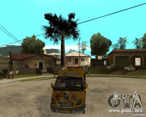 Gaz gacela 2705 Minibus para GTA San Andreas vista hacia atrás