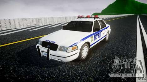 Ford Crown Victoria Police Department 2008 NYPD para GTA 4 visión correcta