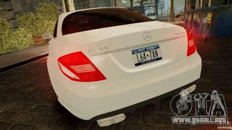 Mercedes-Benz CL65 AMG Stock para GTA 4 vista interior