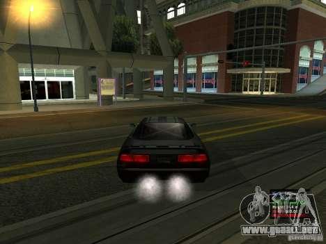 Teal Infernus para GTA San Andreas vista posterior izquierda