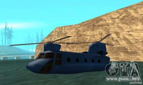 CH-47 Chinook ver 1.2 para la vista superior GTA San Andreas