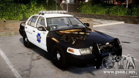 Ford Crown Victoria SFPD K9 Unit [ELS] para GTA 4
