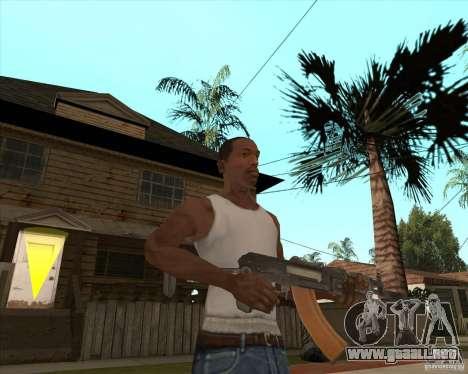 AK74U para GTA San Andreas tercera pantalla