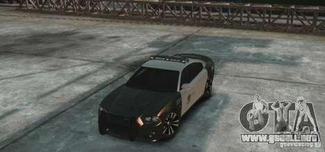 Dodge Charger 2011 Police para GTA 4 vista hacia atrás