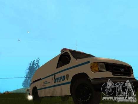 Ford E-150 NYPD Police para GTA San Andreas left