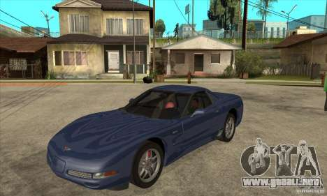 Chevrolet Corvette 5 para vista inferior GTA San Andreas