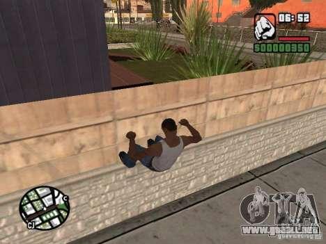 PARKoUR para GTA San Andreas quinta pantalla