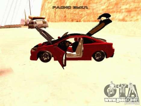 Acura RSX Drift para visión interna GTA San Andreas