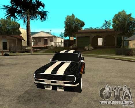 GAZ 2410 Camaro edición para GTA San Andreas vista hacia atrás