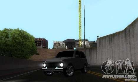 FBI NIVA VAZ 21213 para vista lateral GTA San Andreas