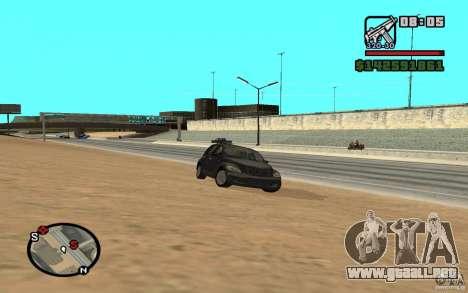 Chrysler PT Cruiser para GTA San Andreas vista posterior izquierda