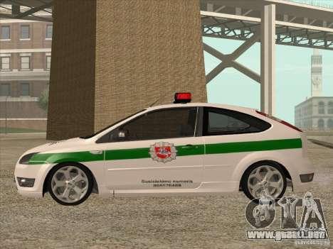Ford Focus ST Policija para GTA San Andreas left