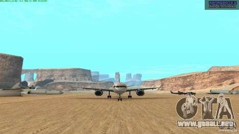 Boeing 757-200 Final Version para GTA San Andreas left
