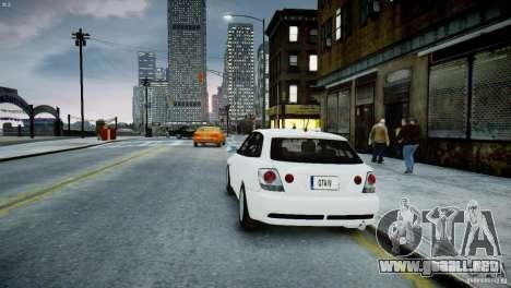 Toyota Altezza Gita Version 2 para GTA 4 Vista posterior izquierda