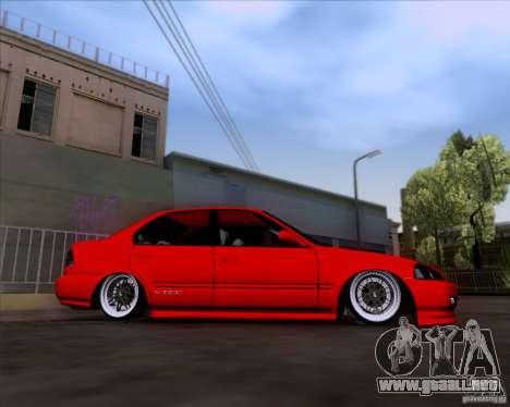 Honda Civic 16 LK 664 para la visión correcta GTA San Andreas