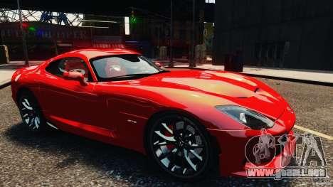 Dodge Viper GTS 2013 para GTA 4 visión correcta