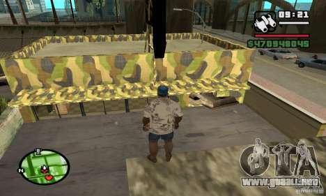 Tienda de armas en Grove para GTA San Andreas quinta pantalla