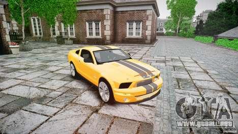 Shelby GT 500 KR 2008 K.I.T.T. para GTA 4 vista hacia atrás
