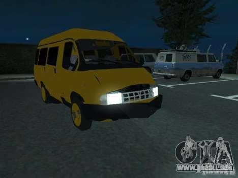 Taxi gacela para vista lateral GTA San Andreas