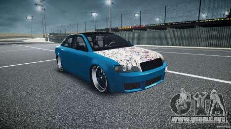 Audi S4 Custom para GTA 4 vista hacia atrás
