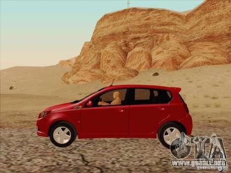 Chevrolet Aveo LT para GTA San Andreas left