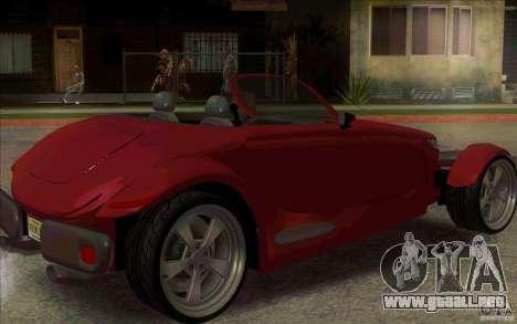 Plymouth Prowler para GTA San Andreas vista posterior izquierda