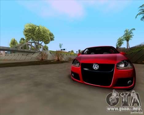 Volkswagen Golf MK5 GTI Stance para GTA San Andreas vista hacia atrás