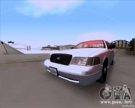 Ford Crown Victoria 2009 Detective para GTA San Andreas left