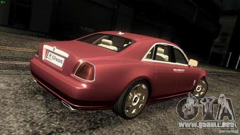 Rolls-Royce Ghost 2010 V1.0 para la visión correcta GTA San Andreas